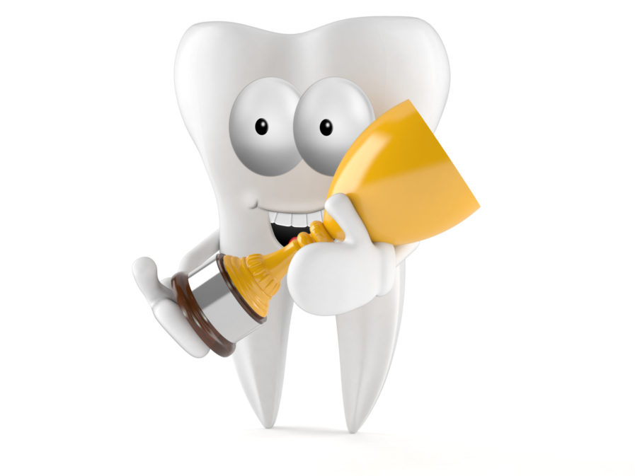 Tooth toon isolated on white background